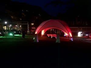 Tent met verlichting huren